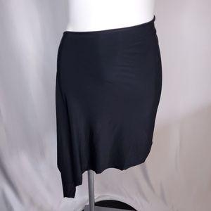 Black sexy party club skirt side slit